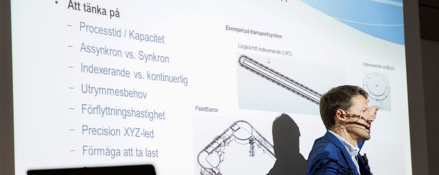 Person som håller presentation