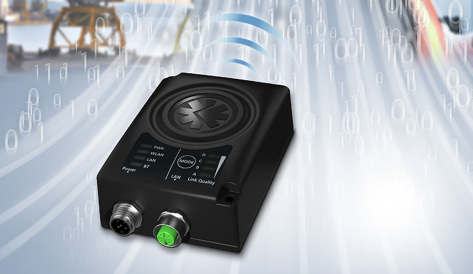 Anybus® Wireless Bridge II möjliggör för maskiner i industrimiljöer att kommunicera trådlöst med varandra, antingen via WLAN eller Bluetooth.